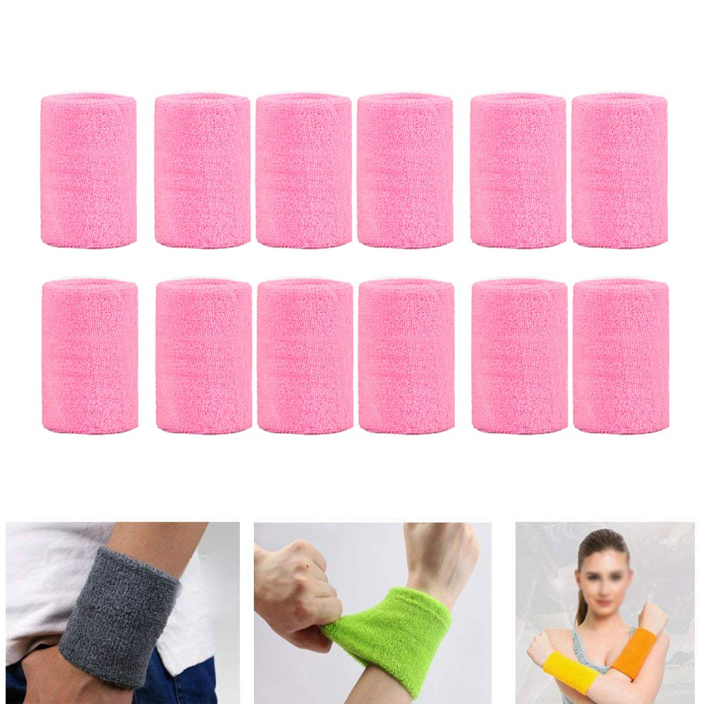 Zaptex Cotton Sports Basketball Wristband Pack of 12
