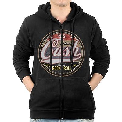 Men/'s  Johnny Cash Casual Hoodie Sweatshirt Long Sleeve Hoody Black