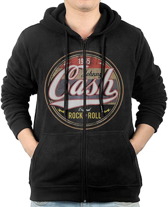 Johnny Cash Emblem Est 1932 Image Black Pull Over Sweatshirt Hoodie New Official