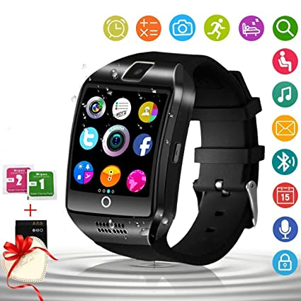 Smart Watch for Android Phones with Camera SIM Card Slot Touch Screen Unlocked Phones Watch Waterproof Smart Watch Fitness Tracker Compatible for ...