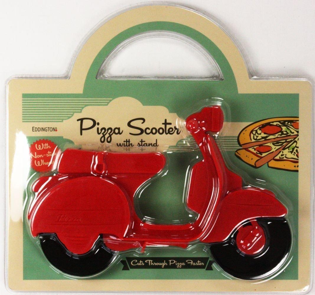 Eddingtons Red Lambretta Vespa Scooter Pizza Cutter - 730005 COMINHKPR91635