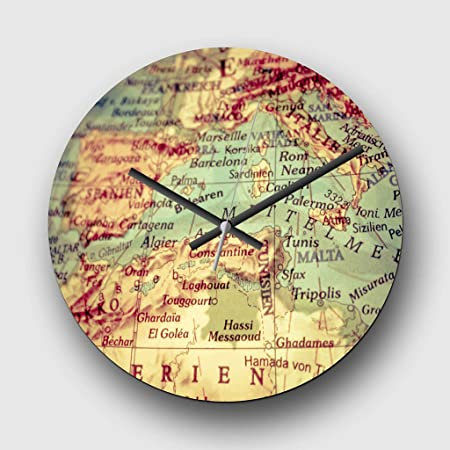 Large 32cm analog wall clock globe world map 1 silent non large 32cm analog wall clock globe world map 1 silent non gumiabroncs Gallery