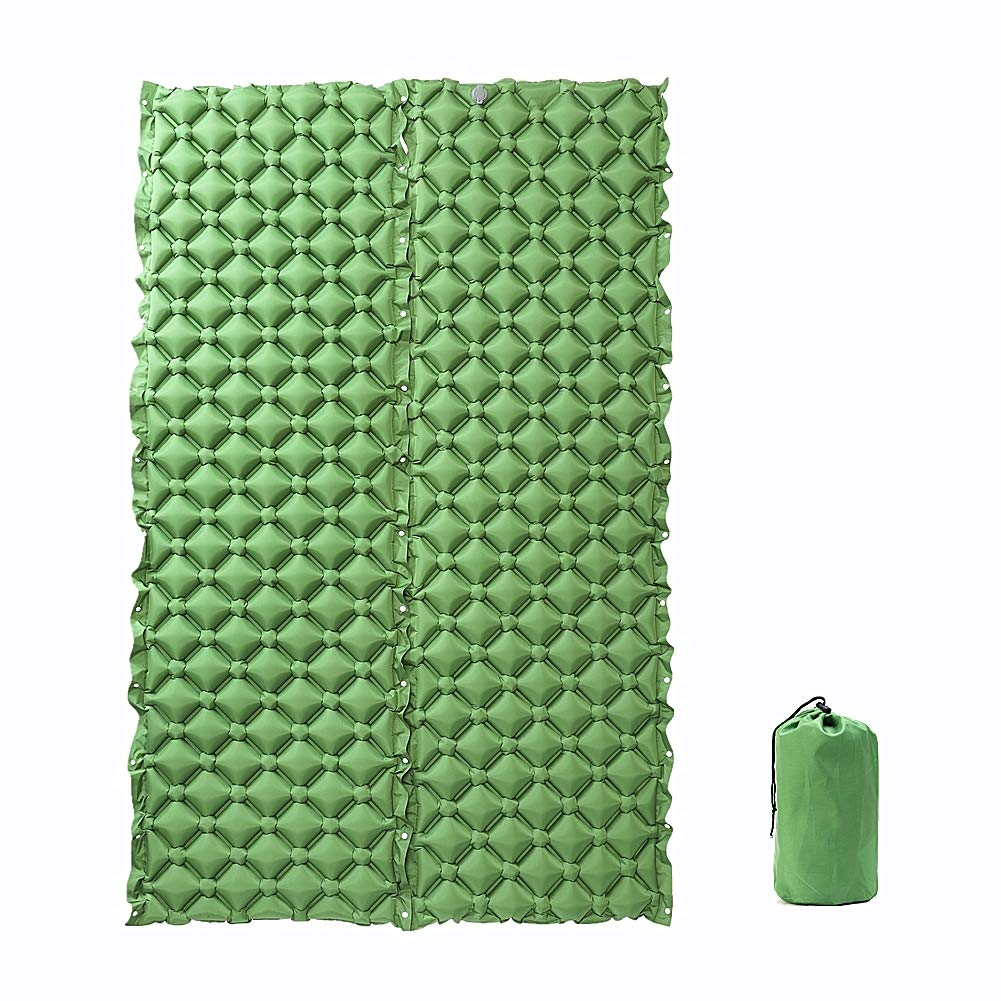 Camping Sleeping Pad 151X24.4X2.3in, 2 Pack Inflatable Pads Splicing Ultralight Compact Camping Mats Mattress for Sleeping Backpacking Beach Mat Sleep Pad by ieasky