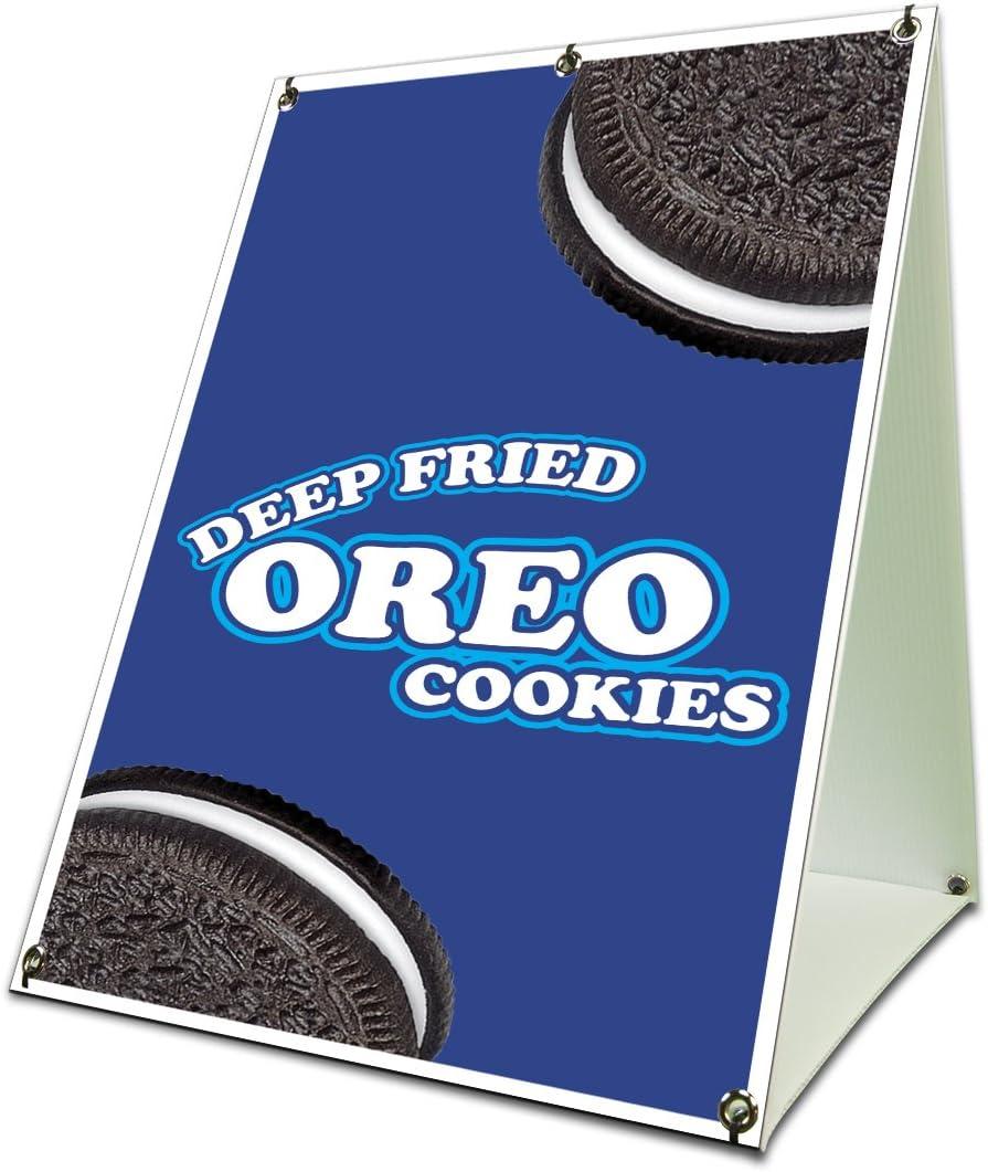 Deep Fried Oreo Cookies Sidewalk Sign Retail A Frame 18
