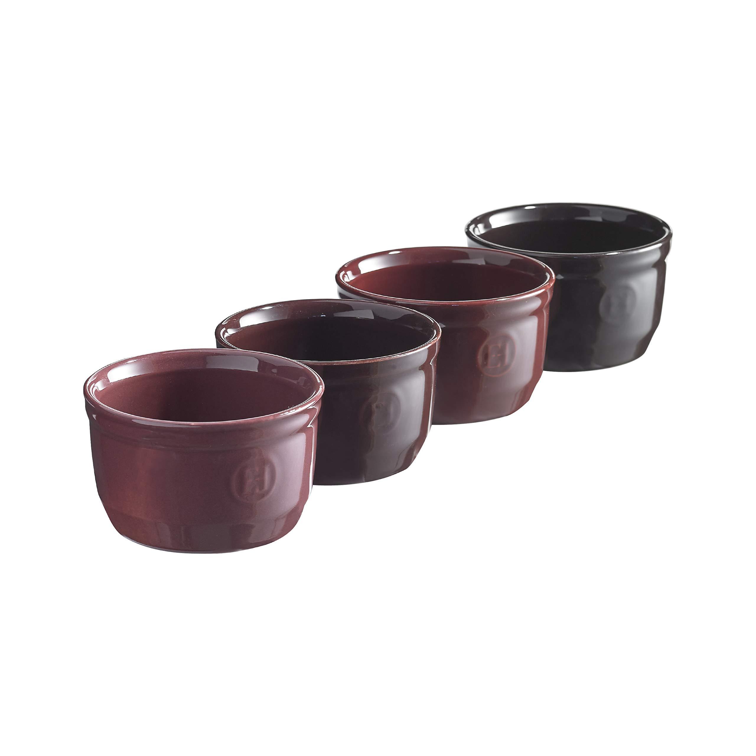 Emile Henry EHSF9710 Fig Shaded, Set of 4 set of individual ramekins, 8.75 oz each each,