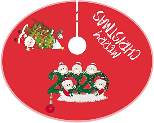 Amazon Com Eowo Christmas Decorations Merry Christmas Tree Skirt For 2020 Quarantine Indoor Outdoor Rustic Farmhouse Christmas Holiday Ornaments B 5 Members Home Kitchen