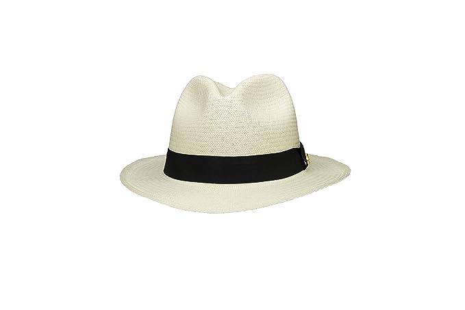 New MONTECRISTI FINO Genuine Panama Hat Rollable Foldable Handmade in  Ecuador  Amazon.co.uk  Clothing 269a9bf57bca