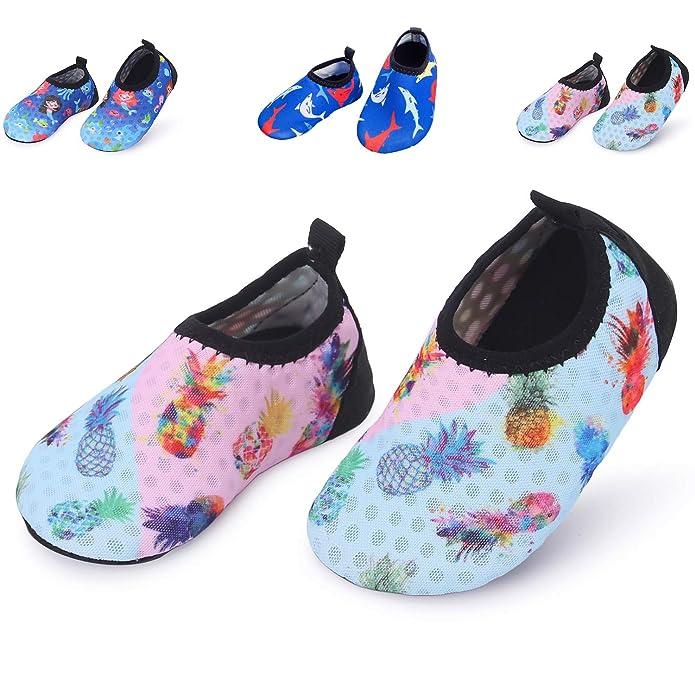 L RUNJP Babys Wasser Schuhe Leichte Kleinkind Aqua Socke Sommer Schwimmen Schuhe Wanderschuhe