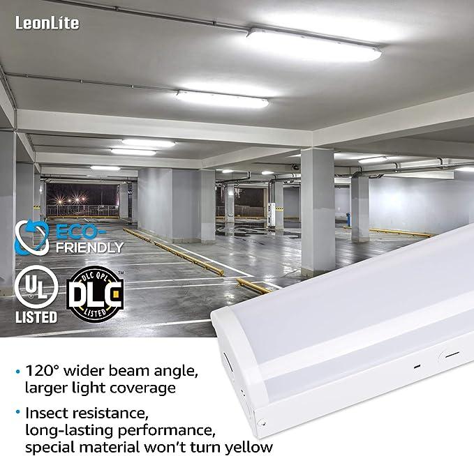 40W 4800Lm 4000K 659 4Ft Led Garage Shop Lights Led Wraparound Light Fixture