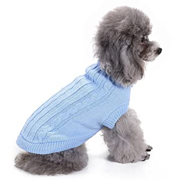 Aisuper Pets Solid Kint Sweater Warm For French Bulldog Chihuahua