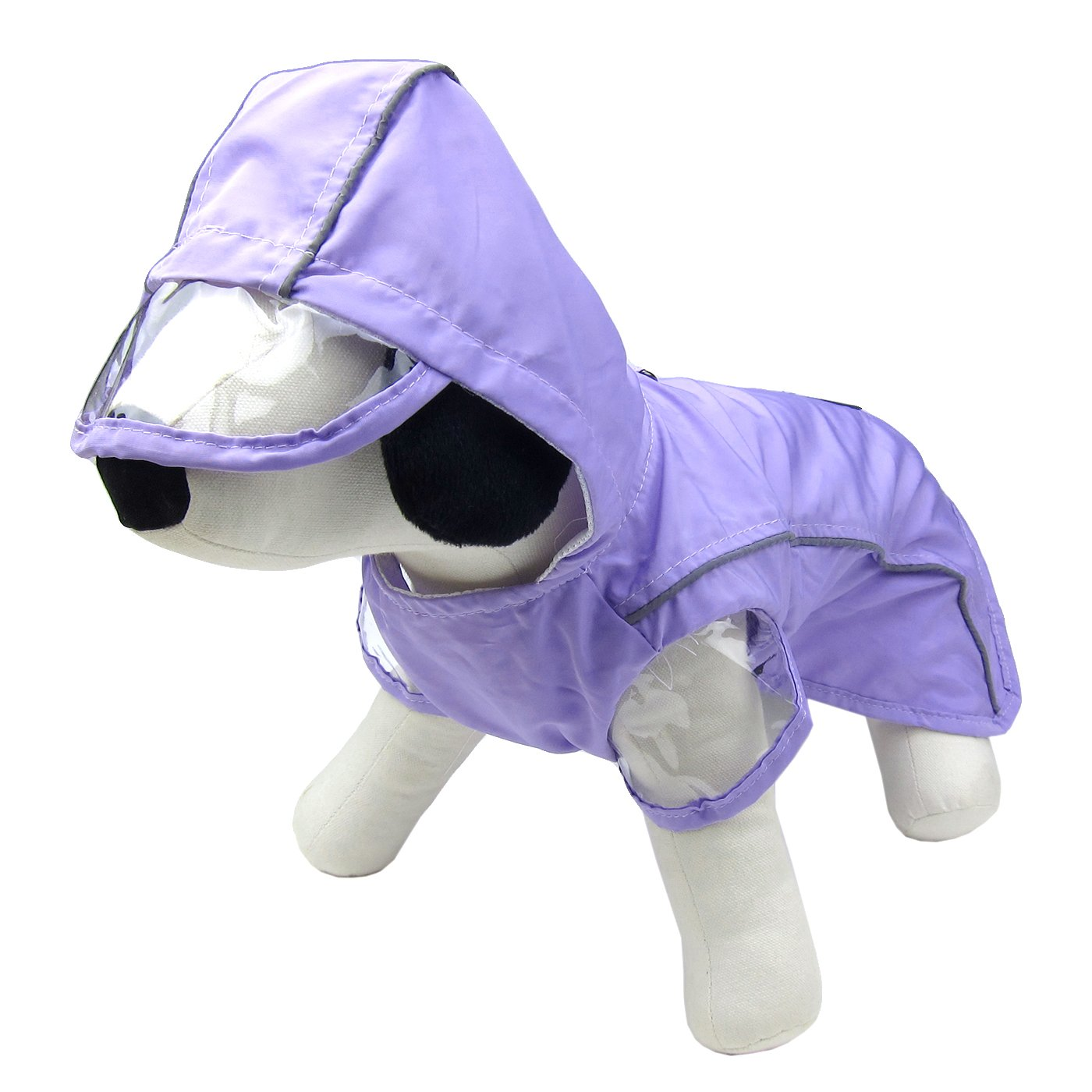Alfie Pet by Petoga Couture - Harper Rainy Days Waterproof Raincoat (for Dogs and Cats) - Color Purple, Size: Medium