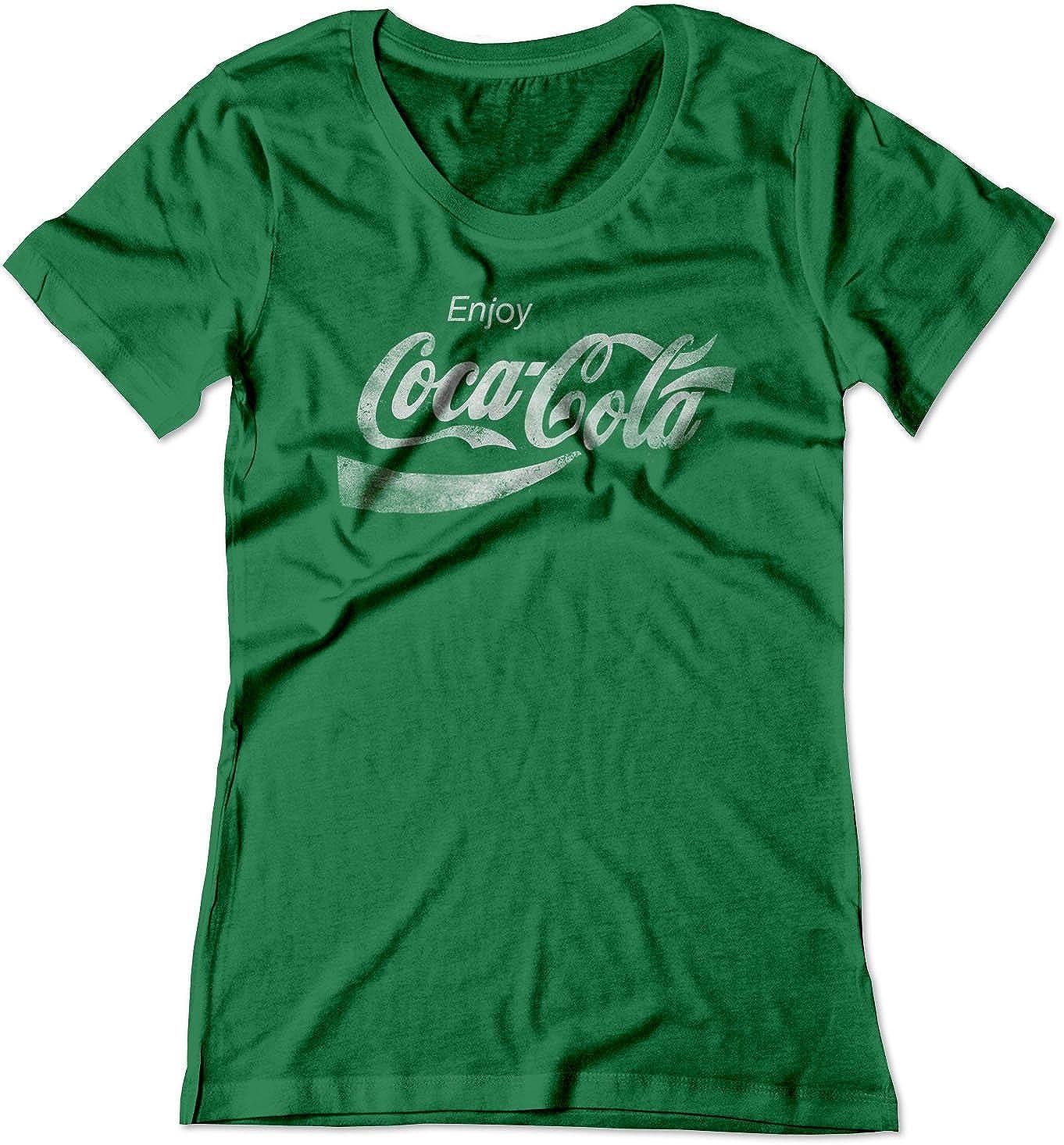 BSW Women's Enjoy Coca-Cola Coke Pop Soda Drink Vintage Logo Shirt 5398-1R