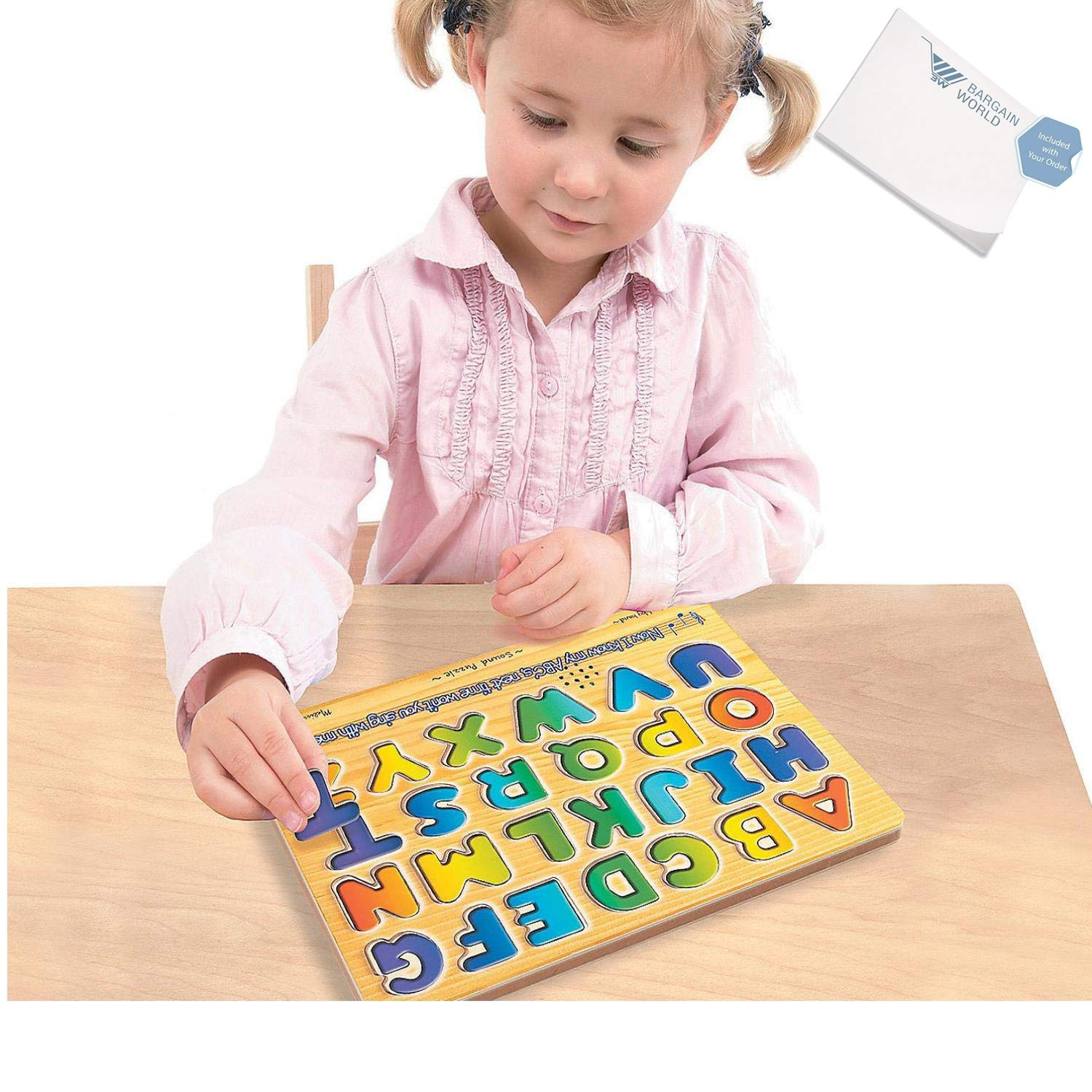 Bargain World Alphabet Sound Puzzle (With Sticky Notes)