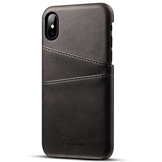 more photos 116a6 24f0f Amazon.com: for Apple iPhone X Case/iPhone 10 Leather Shell,Premium ...