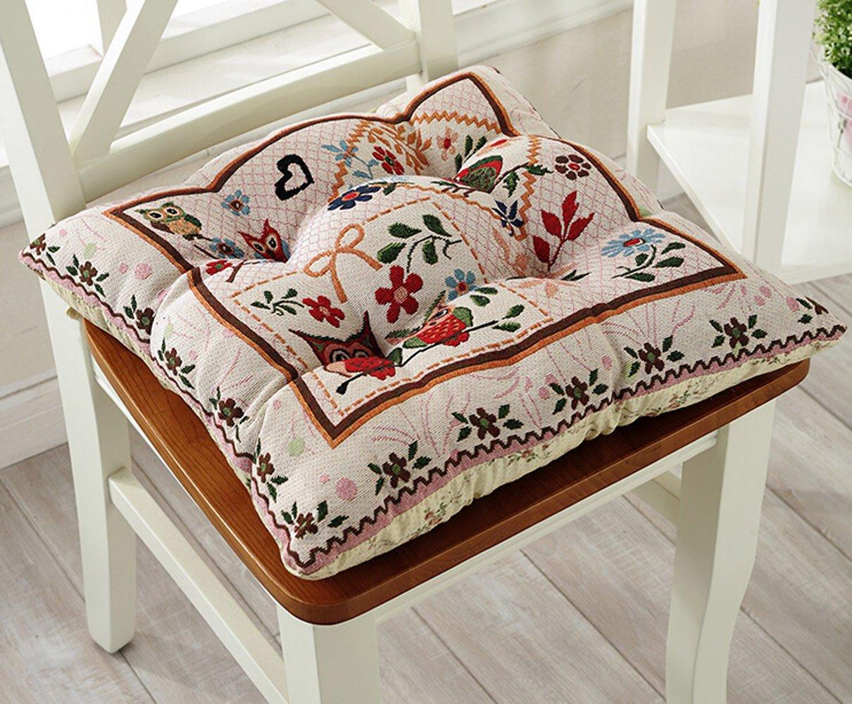 16.9x16.9 inch Cotton Seat Cushions Sofa Chair Cushion Pillow Chair Pads with Corner Ties (Type-1) VENDAR
