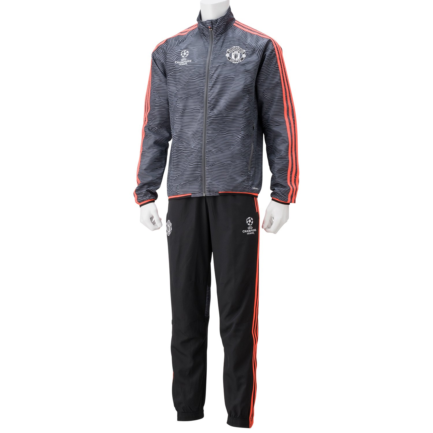 9272fb9c0c8 adidas Mens Training Suit UCL Presentation from Manchester United  Multi-Coloured Black Ash Solred Size XXX-Large  Amazon.co.uk  Sports    Outdoors
