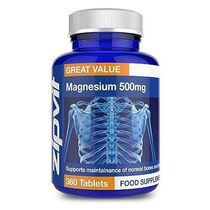 Magnesio 500mg | 360 comprimidos | Promueve el buen funcionamiento óseo y muscular | SUMINISTRO DE