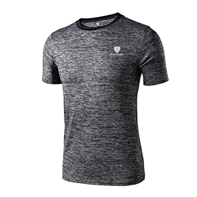 Camiseta Hombre Workout Fitness Camiseta Gym Atlética Running Sport Yoga Top Blouse Joven Ideal tee Tops Oversize: Amazon.es: Ropa y accesorios