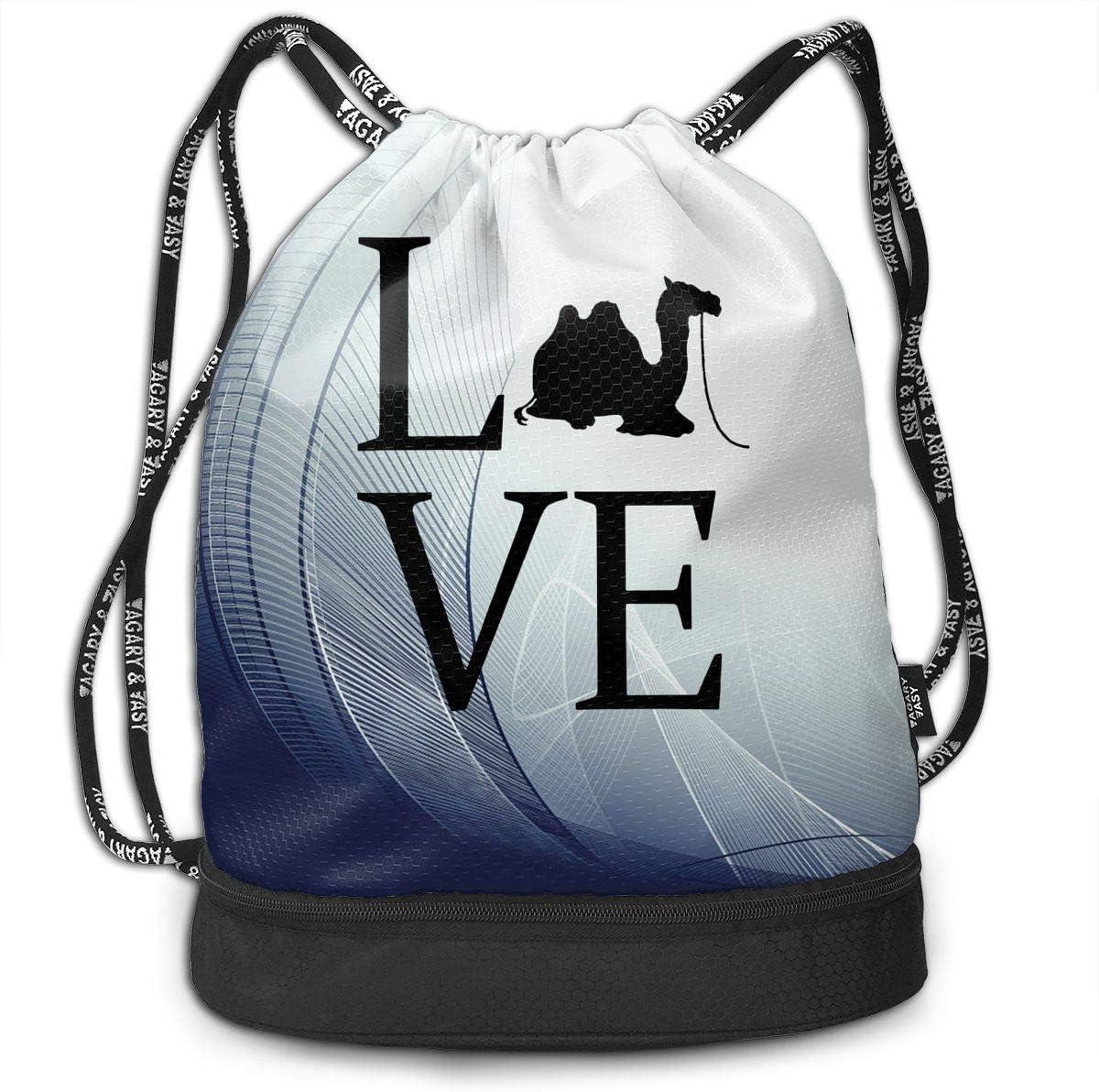 Drawstring Backpack Camel Shoulder Bags