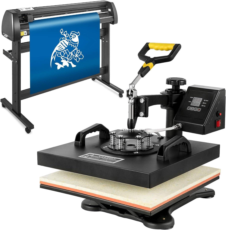 Mophorn Heat Press Machine 15×15 inch 5in1 T-Shirt Heat Press