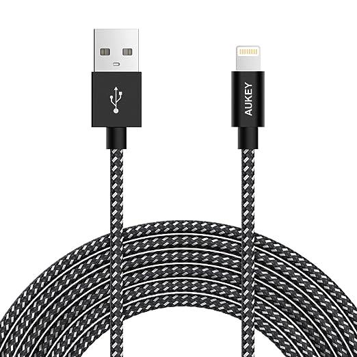 2 opinioni per AUKEY Cavo Lightning [Certificato Apple MFi] 2m/2M in nylon intrecciato