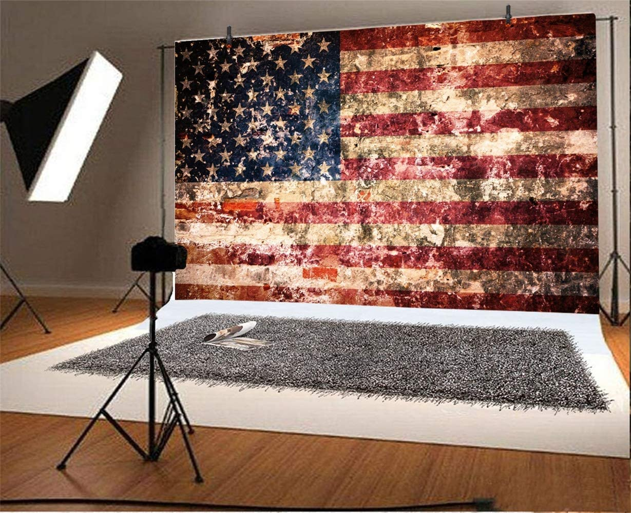 Amazon Com Laeacco Grunge Dirty Wall Us Flag Painting Backdrop Vinyl 10x6 5ft Independence Day Veteran Day Memorial Day Background Studio Child Kids Baby Portrait Shoot Eagle Scout Ceremony Nostalgia Style Camera
