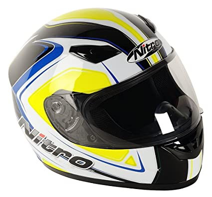 Amazon.es: Nitro 187161XS41 Vertice Casco Moto, Color Blanco ...