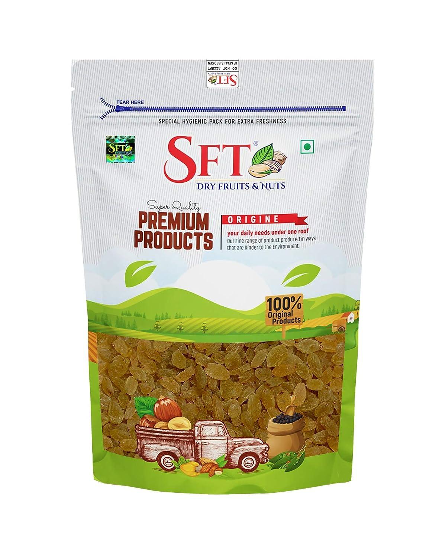 SFT Raisins Golden (Kishmish) Seedless , Dry Grapes 100 Gm