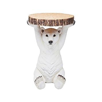 Kare Beistelltisch Animal Polar Bär, Ø37cm, kleiner, runder ...