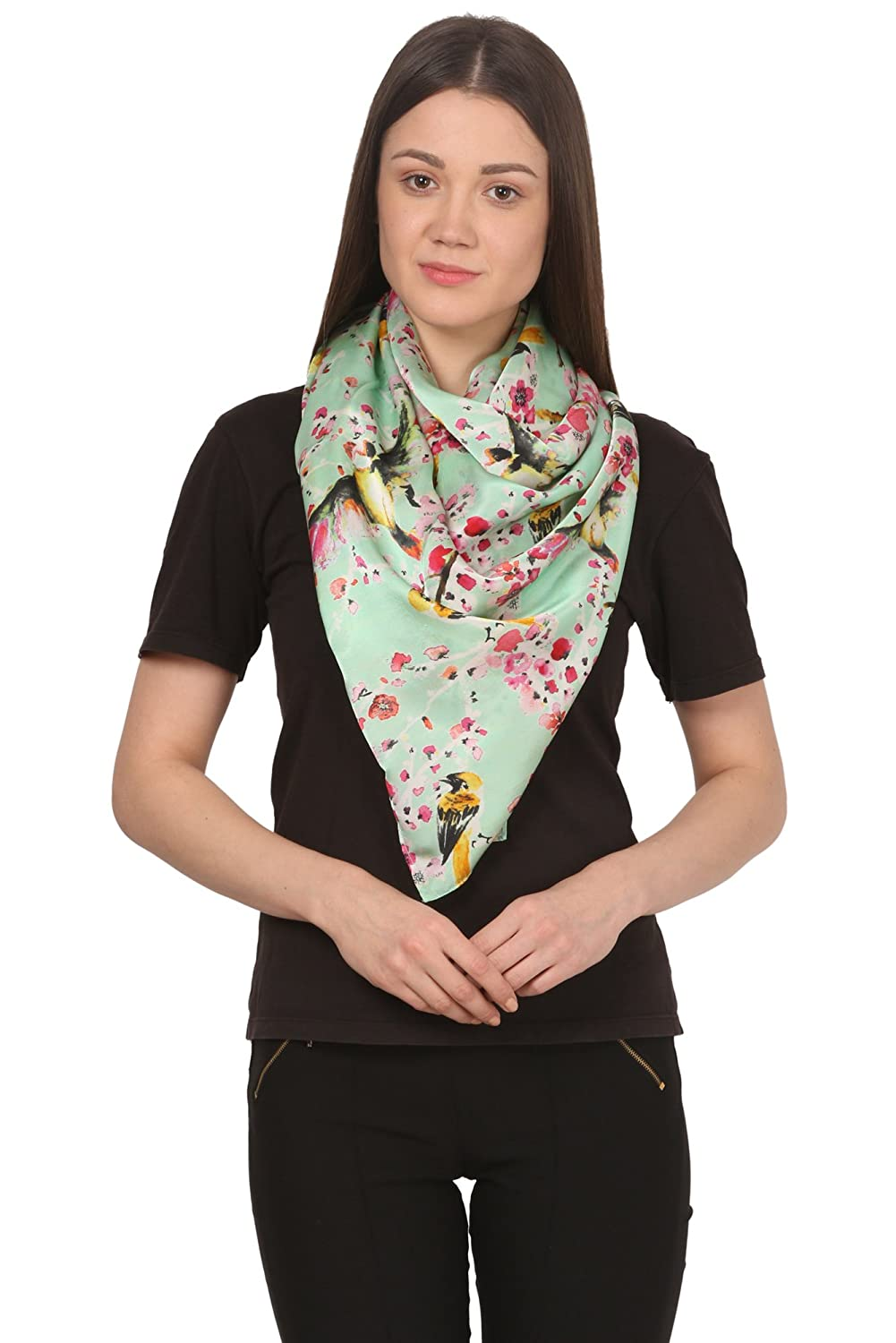 Cafsew Colours Womens Stole CG-163-ST,Grey,Poly Georgette
