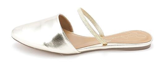 Womens SUNBURST Pointed Toe Flats Gold Size 6