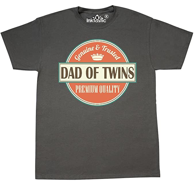 a437e51c Amazon.com: inktastic - Dad of Twins Vintage T-Shirt 2399e: Clothing