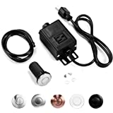 Garbage Disposal Air Switch Kit, Sink Top Waste Disposer On/Off Switch with Aluminum Alloy Power Module (LONG BRUSHED STAINLE