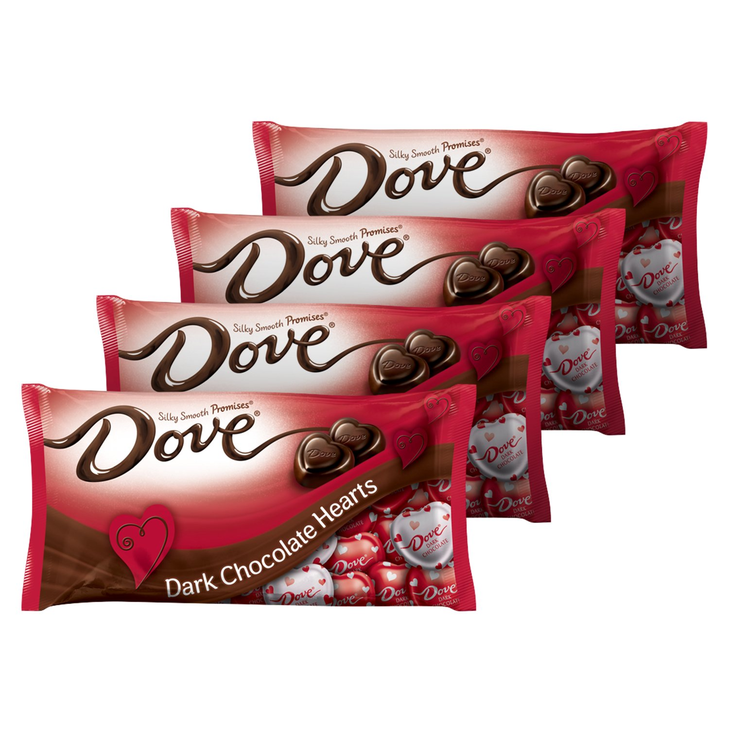 Amazon.com : DOVE PROMISES Valentine Dark Chocolate Candy Hearts ...