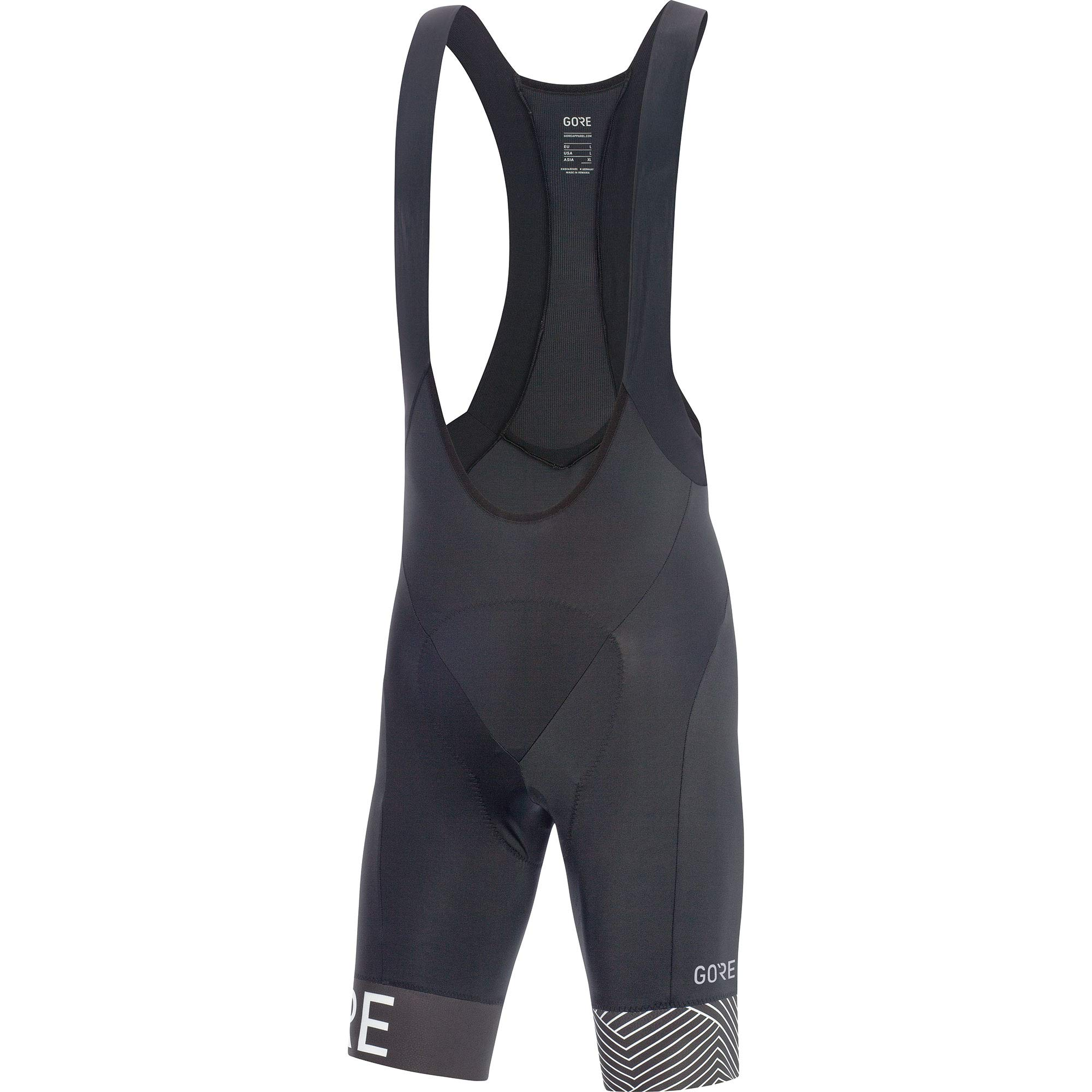 GORE Wear C5 Men's Short Cycling Bib Shorts With Seat Insert, S, Black/White