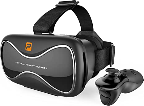 : PASONOMI VR Headset with Controller, VR Virtual
