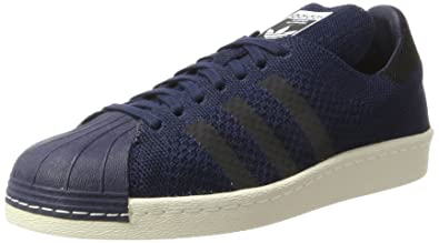 adidas Superstar 80S Primeknit, Baskets Homme, Bleu (Collegiate Navy/Core Black/
