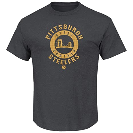 Amazon.com   Pittsburgh Steelers Men s Charcoal Keep Score T-shirt ... c1d5b693b