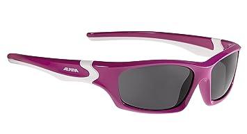 Alpina Kinder Flexxy Teen Sonnenbrille, Berry White, One Size