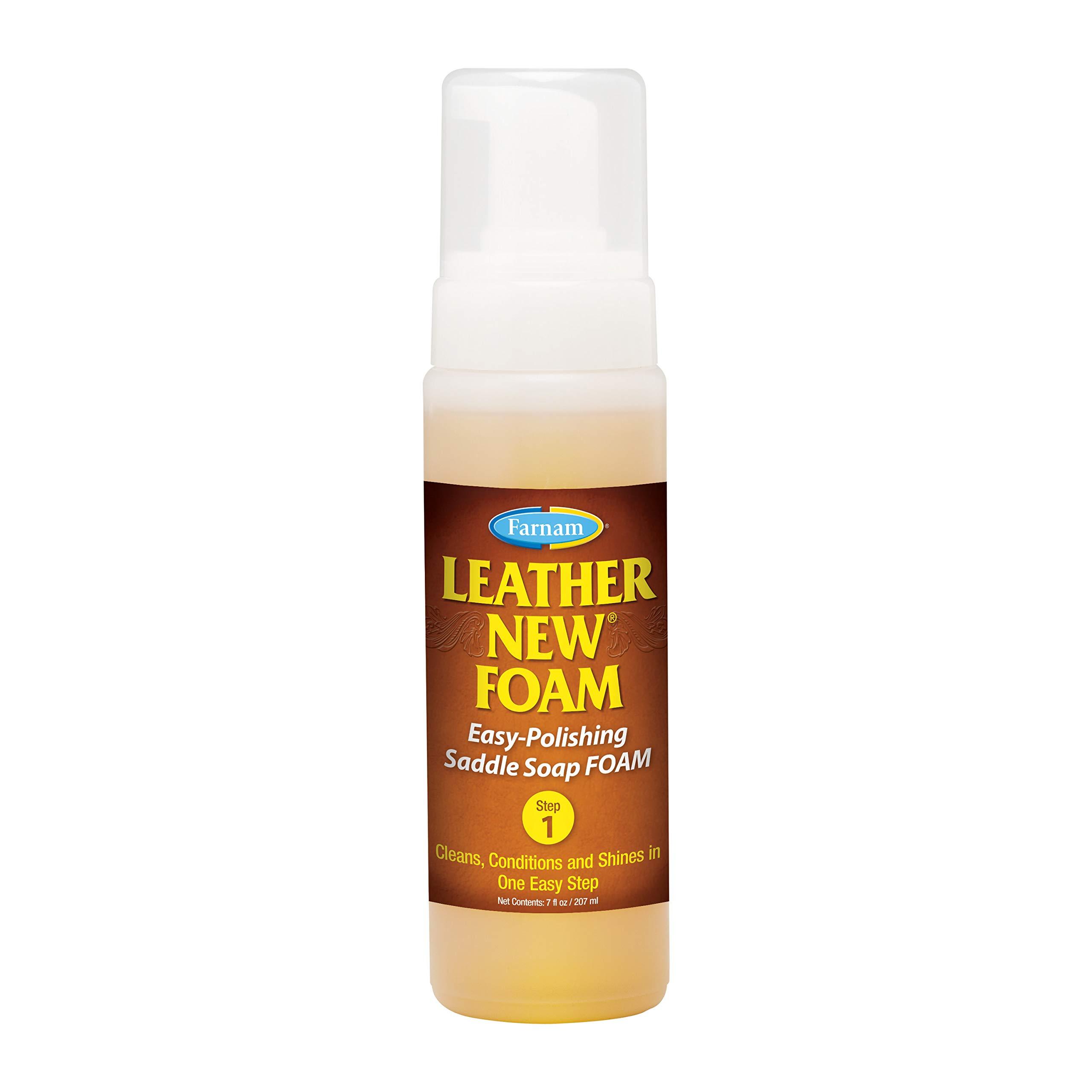 Farnam Leather New Saddle Soap Foam, 7 Ounce