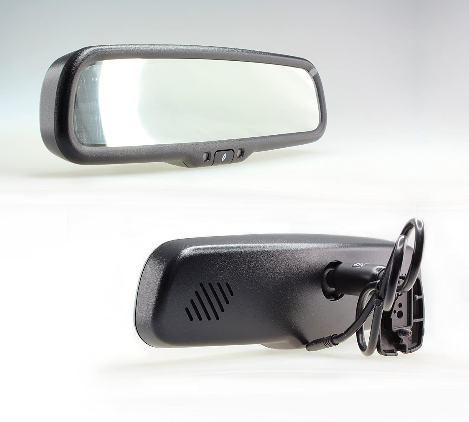 Gazer MU500 Car Rear View Mirror 4.3 Display Brightness Adjustment and Built-in Universal Mount with Removable Pads Gazer Limited
