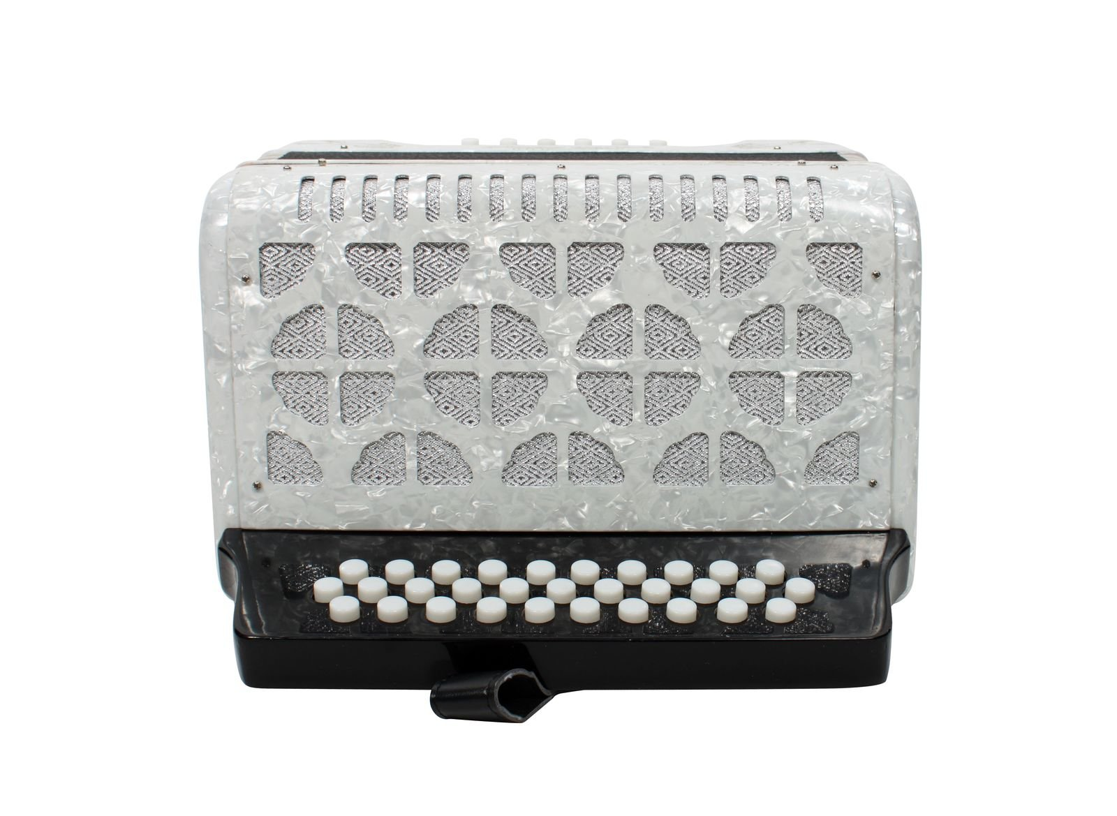 Rizatti Bronco RB31FW Diatonic Accordion - White - Key F/Bb/Eb by RIZATTI (Image #2)