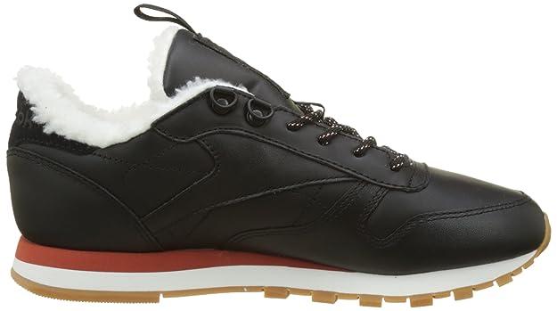 Classic Leather Arctic, Zapatillas para Mujer, Negro (Black/Burnt Amber/Chalk/Gum), 41 EU Reebok