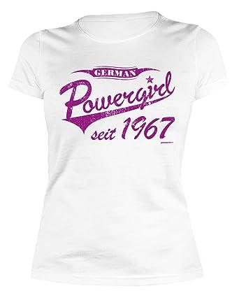 Sexy Damen T Shirt Zum 50 Geburtstag German Powergirl Seit 1967