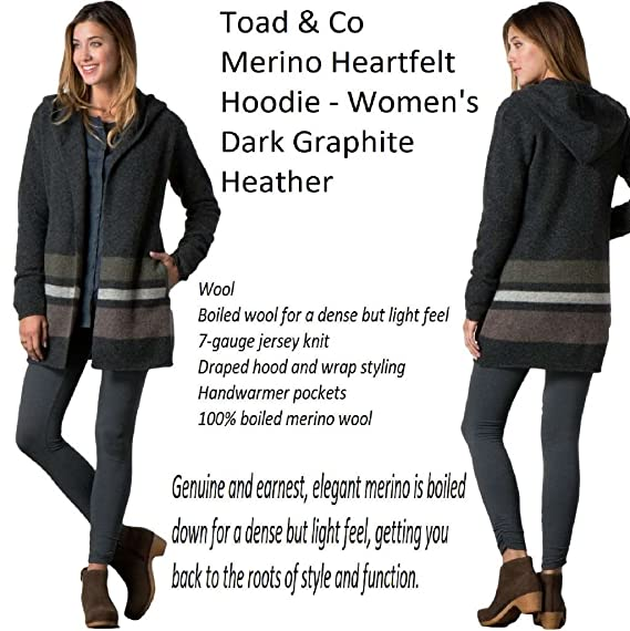 Toad & Co Merino Heartfelt Hoodie Women's Dark Graphite