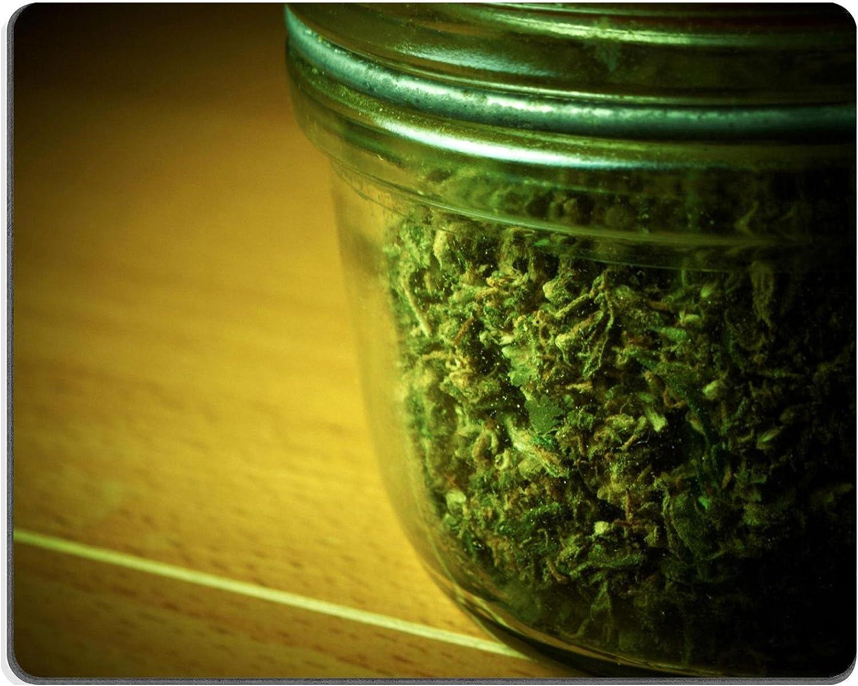 Alfombrilla para ratón con imagen de bote de marihuana medicinal sobre fondo claro (ID: 25200077)