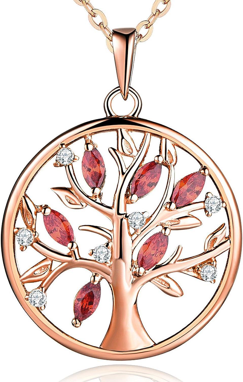 JO WISDOM collar colgante arbol de la vida plata de ley 925 cristales swarovski mujer joyería