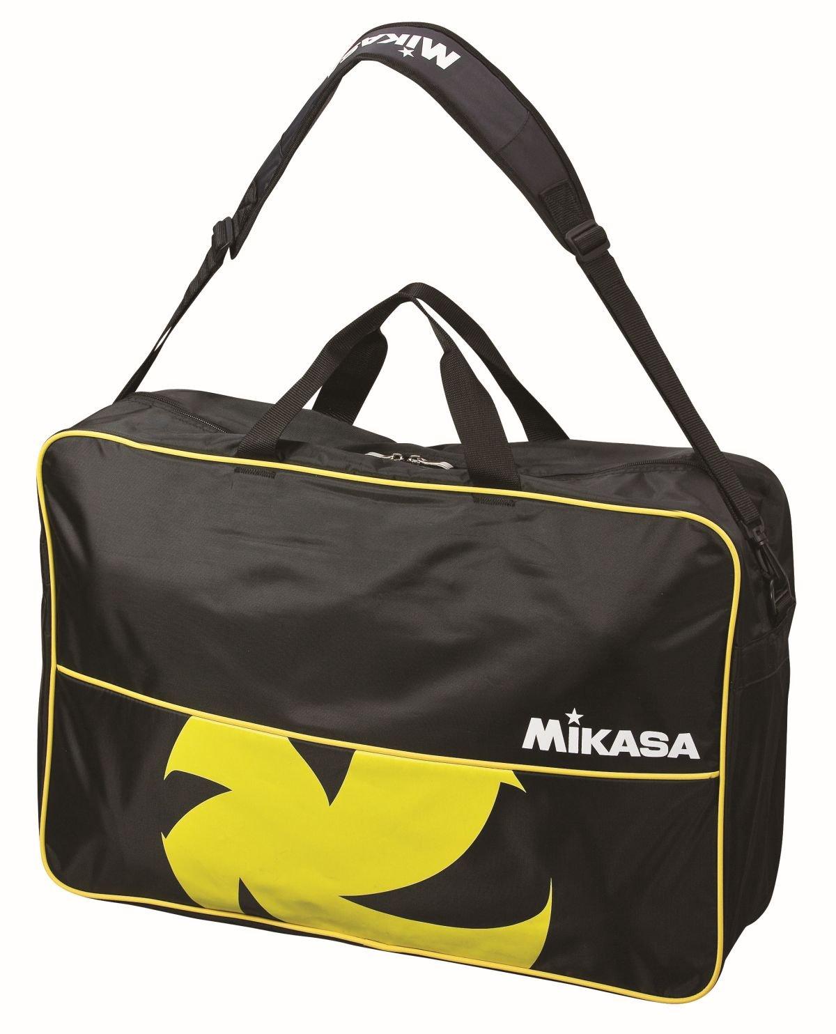 Mikasa Ball Bag Volleyball, Black/Yellow, 60.0x 40.0x 2.0cm, 18.0Litres, 1938