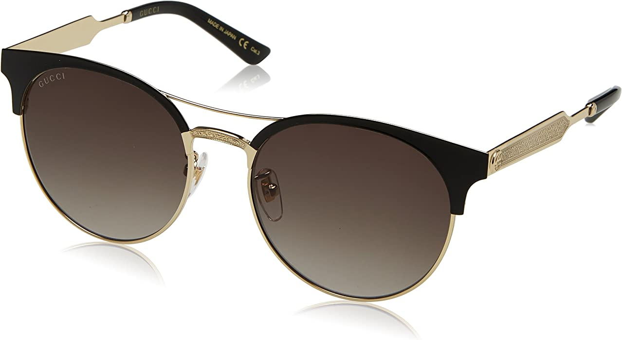 ccade7aab9 Amazon.com  Gucci Grey Gradient Round Sunglasses  Clothing