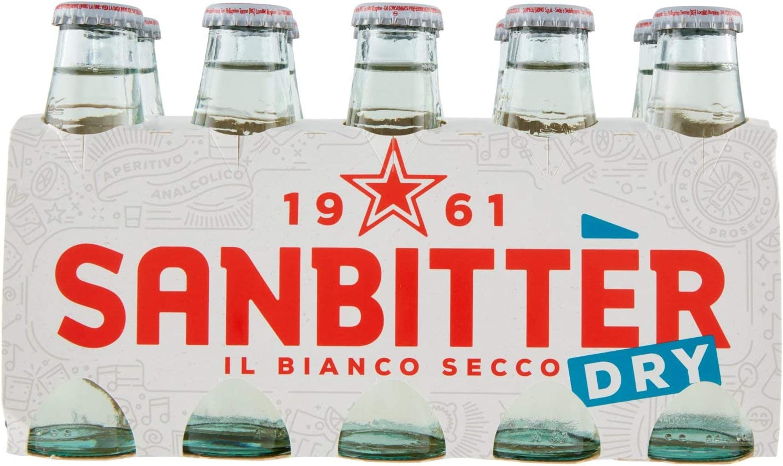 PAQUETE 10 SANBITTÈR DRY BLANCO APERITIVO SIN ALCOHOL 100ml